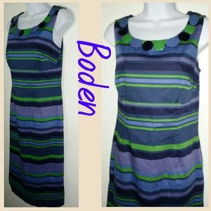 Boden Faux Stone Striped Dress sz 6